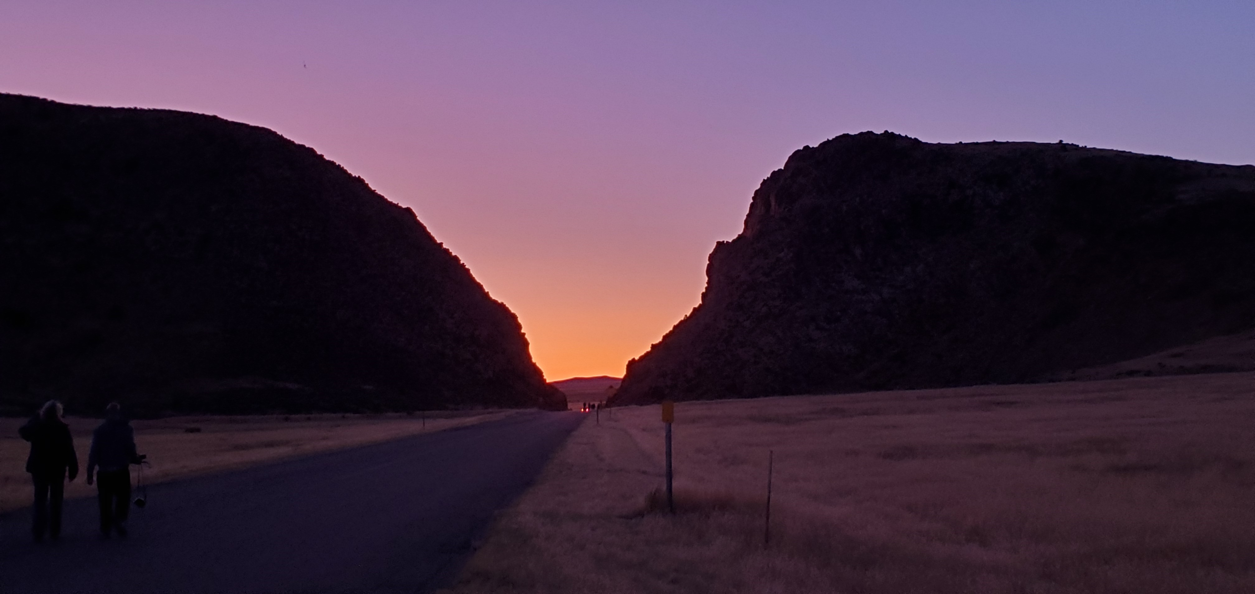 Sunset with glow resting in Parowan Gap
