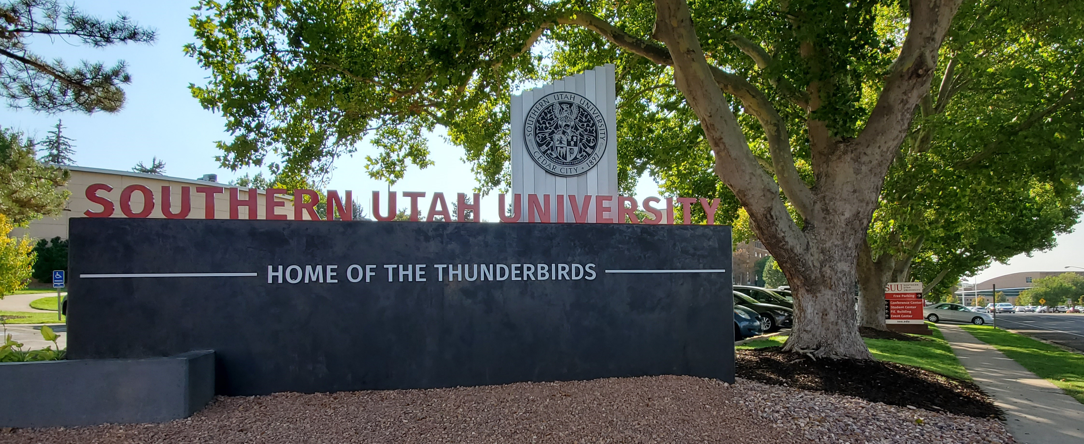Southern Utah University sign