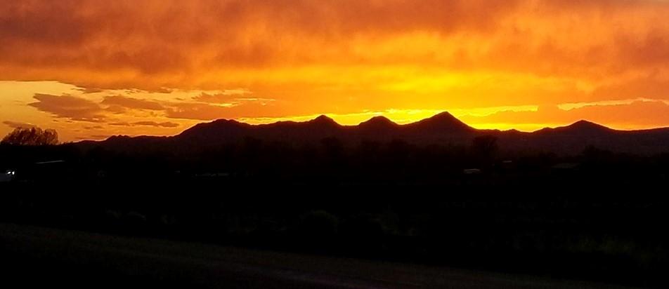 Three Peaks at sunset