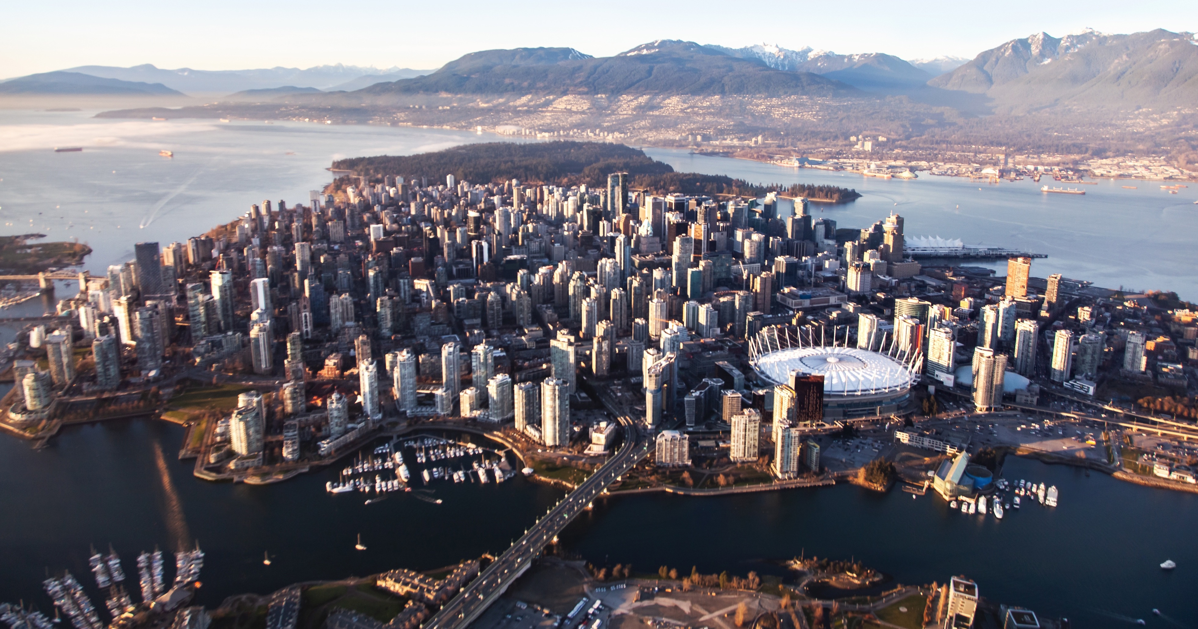 Overlooking Downtown Vancouver