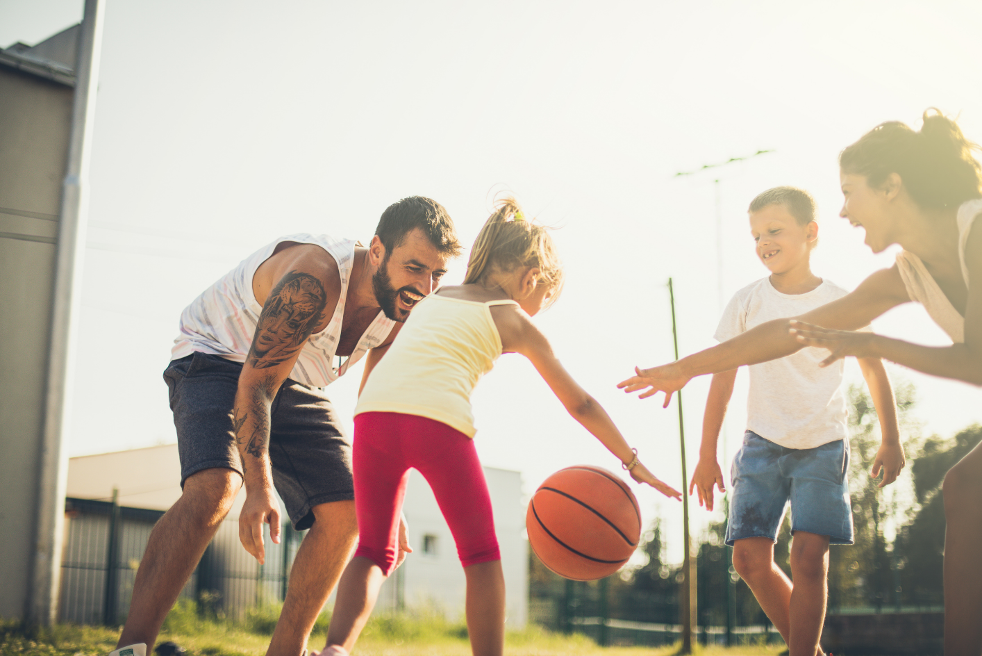 Family Playing Sports