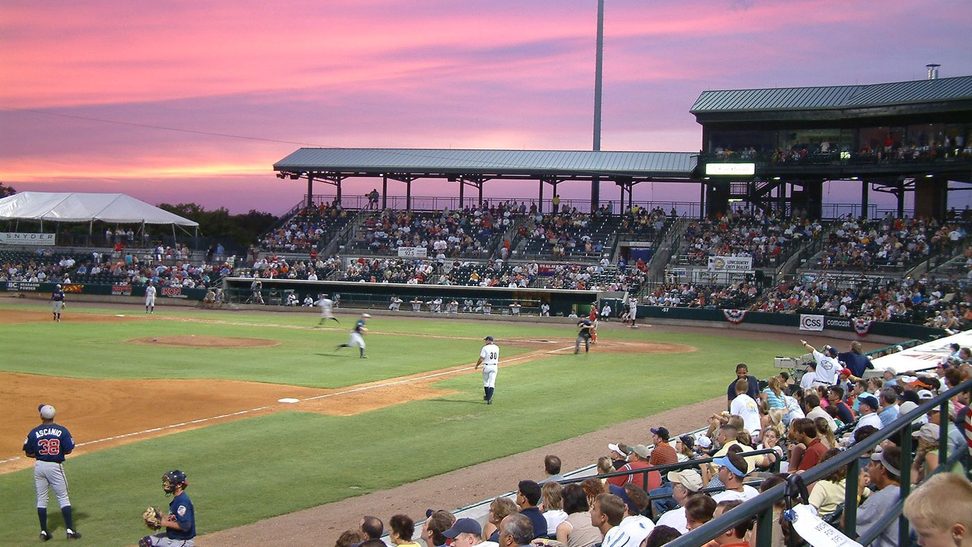 baseball sunrise