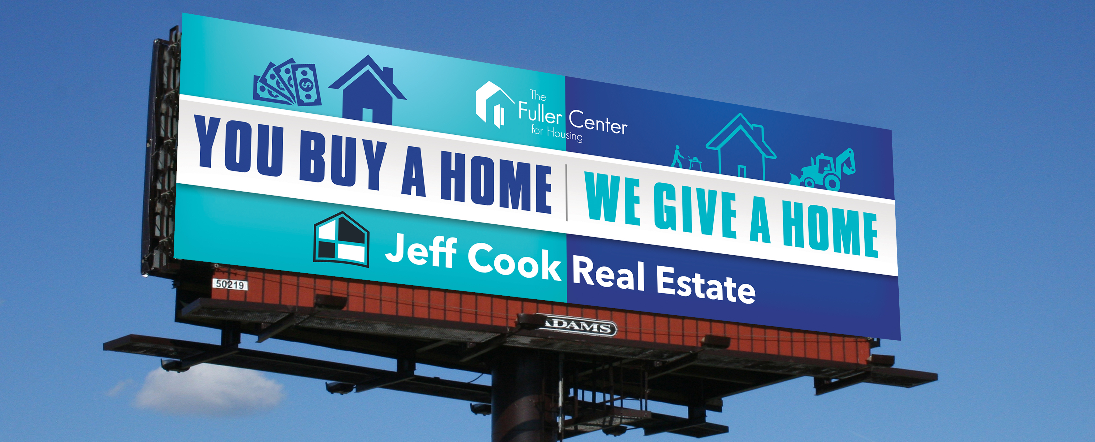 Buy a Home Give a Home Billboard Charleston Jeff Cook Real Estate