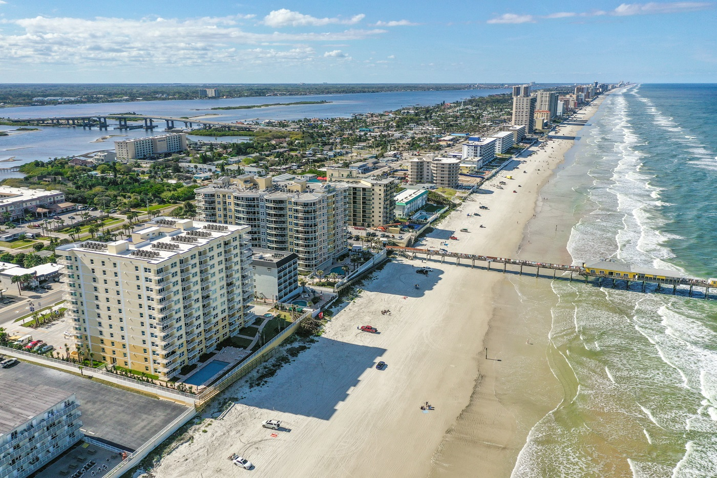 Aerial View of Oceanfront Condos