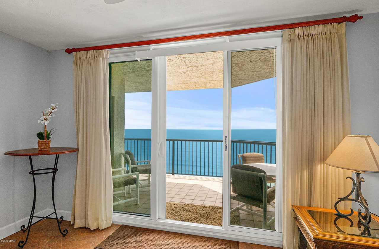 ocean view from a condo