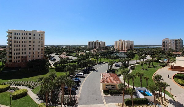 photo of large property with condo buildings