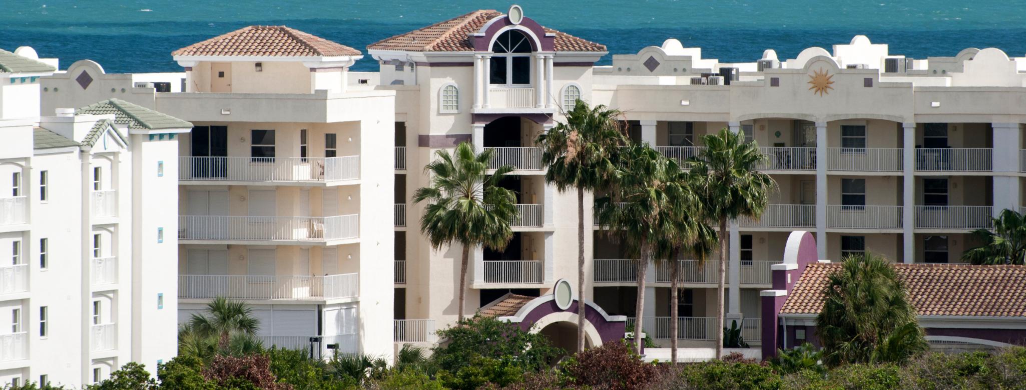 Photo of condo buildings in cape canaveral fl