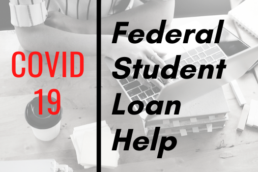 Graphic to access COVID-19 Info about student loans