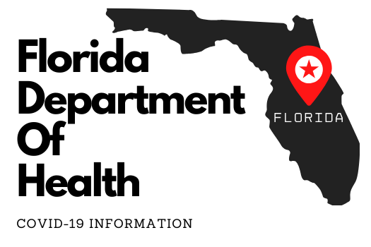 Button to access COVID 19 info from Florida DOH