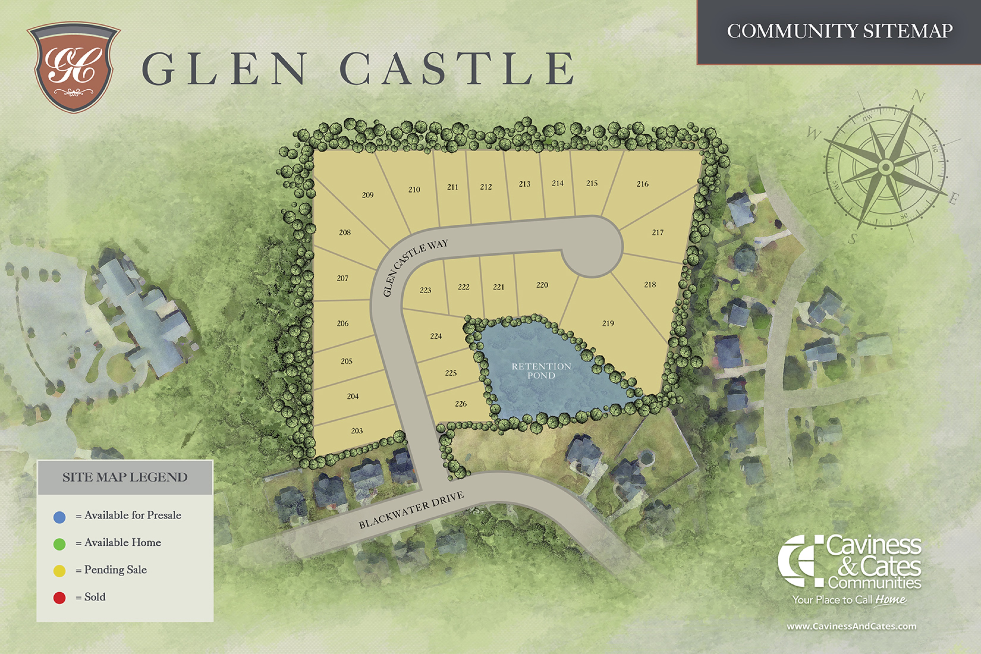 glen castle site map