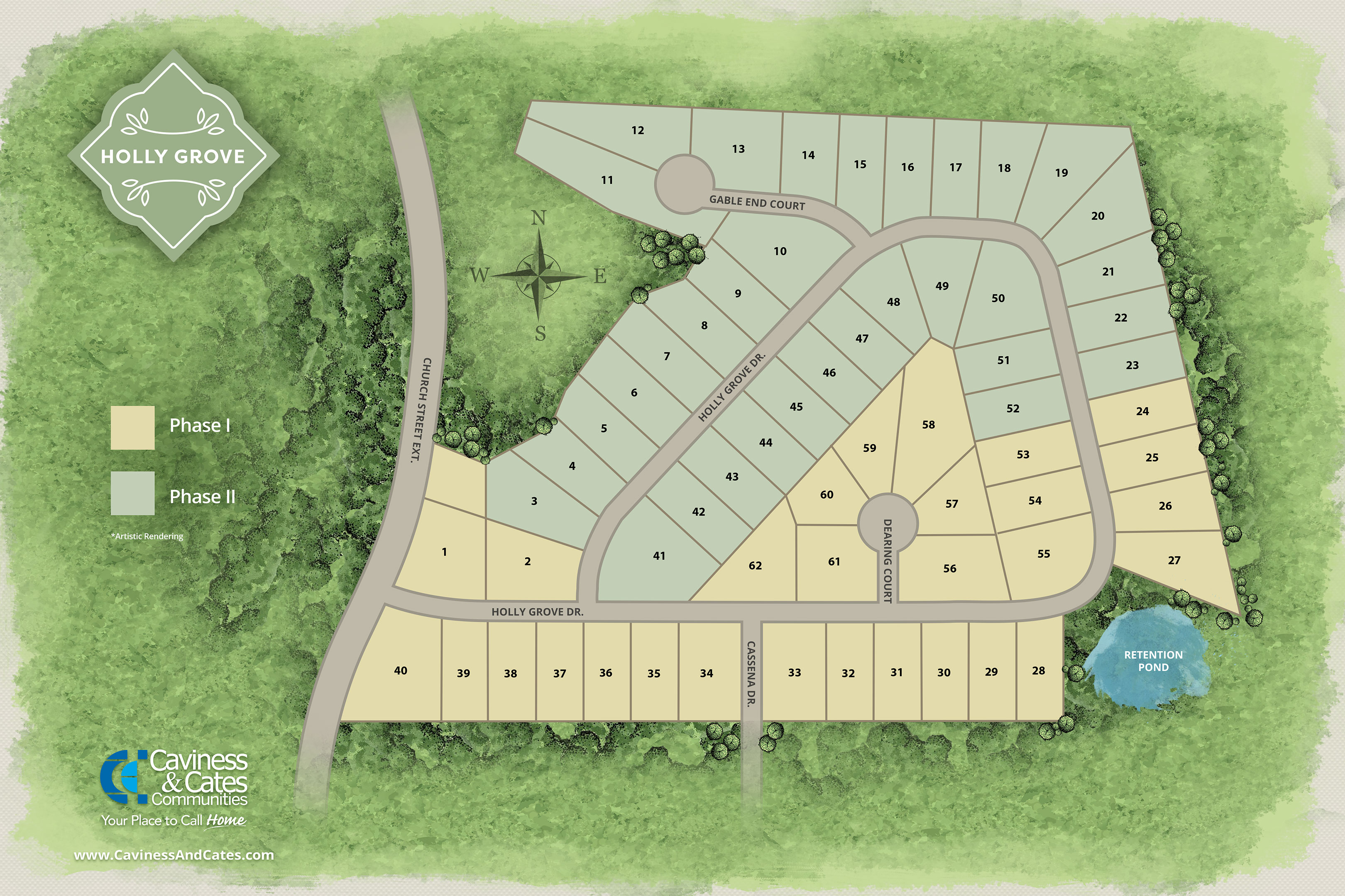 holly grove site map