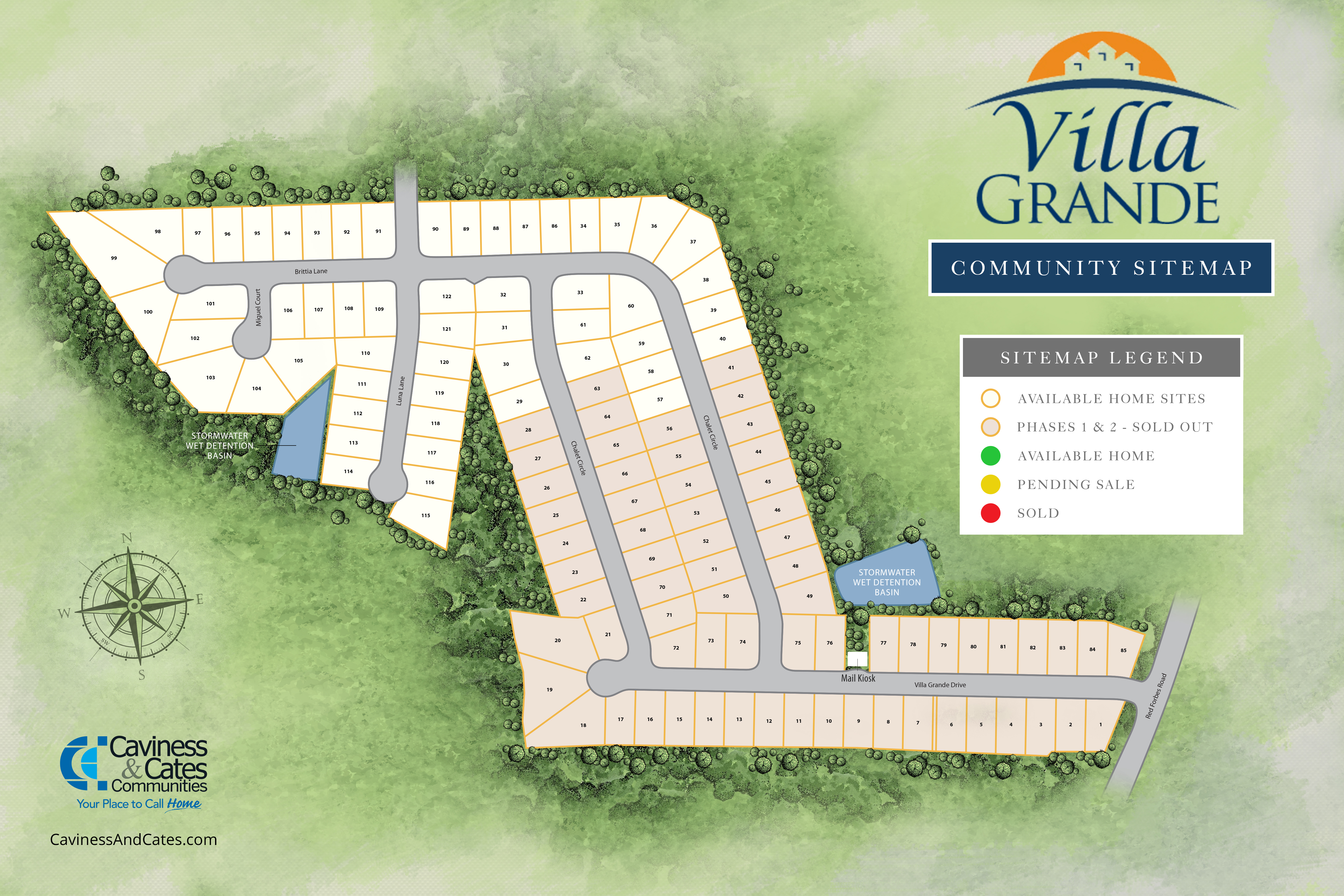 villa grande site map