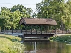 Covered Bridge at Keller's Bear Creek Park