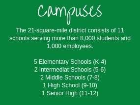 Carroll ISD's 21 square miles serves around 8000 students