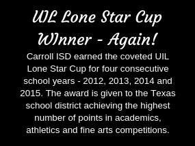 Carroll ISD Earns the UIL Lone Star Cup, Again!
