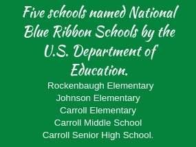 Carroll Has National Blue Ribbon School Awards from the US Department of Education