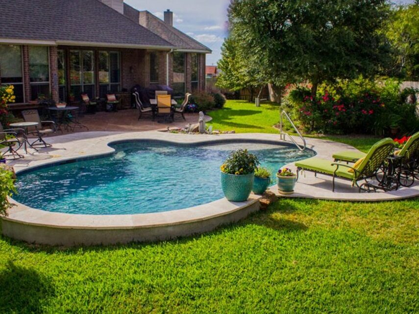 Home for sale with swimming pool in Haslet Texas