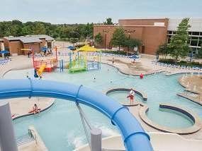 The splash pool at Keller Pointe