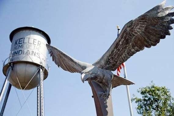 City of Keller Public Art Program, Main Street water tower