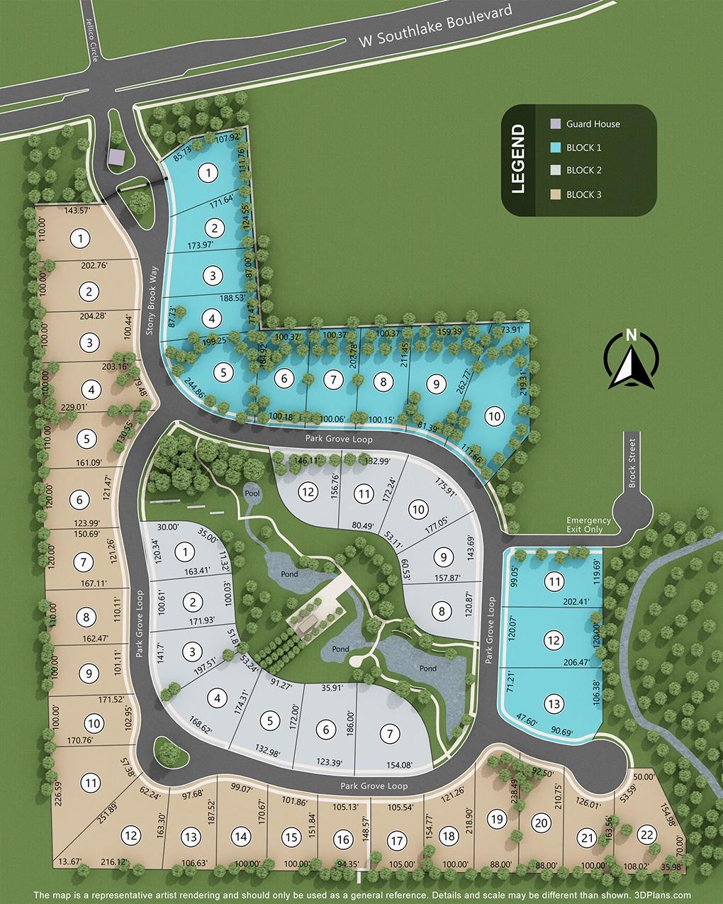 Stony Brook, Southlake, TX Homes for Sale neighborhood map