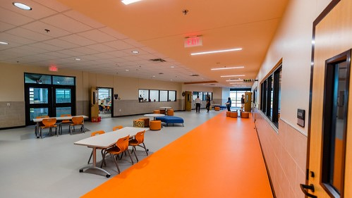 Lance Thompson Elementary interior of school serving Harvest, Pecan Square and Canyon Falls Neighborhood