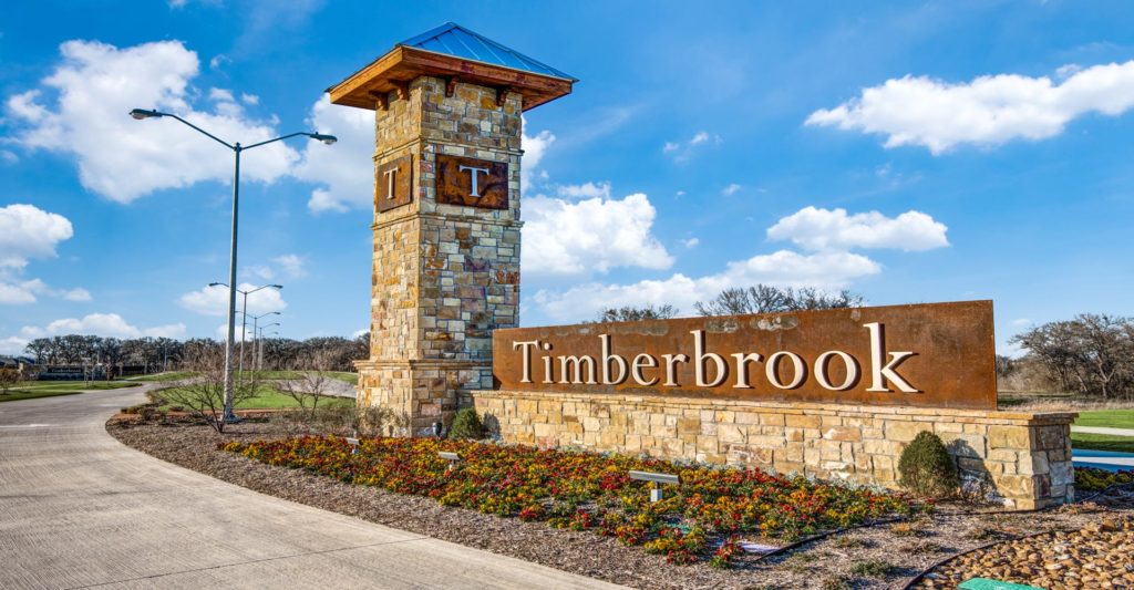 Timberbrook, Justin, TX main entrance