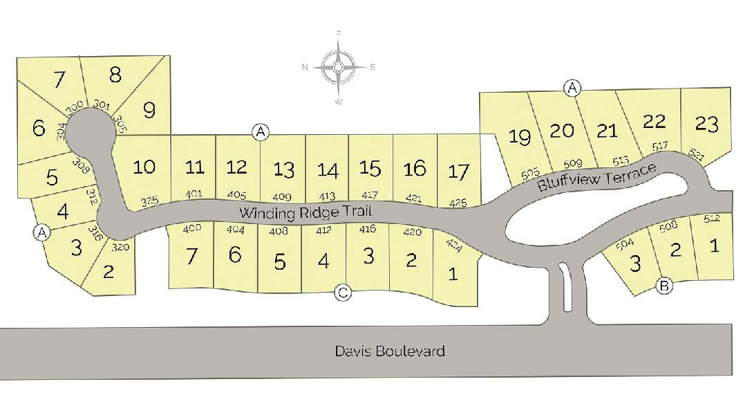 Southlake TX Ridgeview Addition Site Map