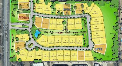 Southlake TX Villas at Hidden Knoll Addition Site Map
