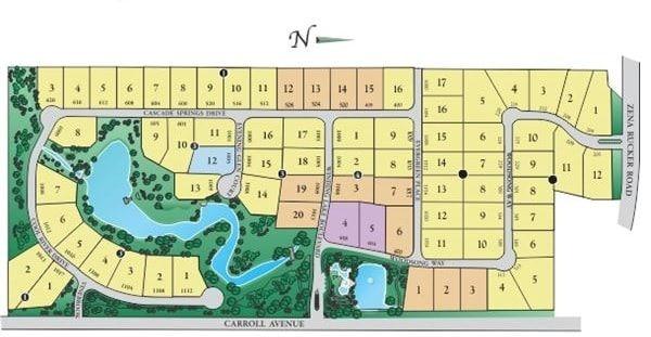 Winding Creek Southlake site plan map