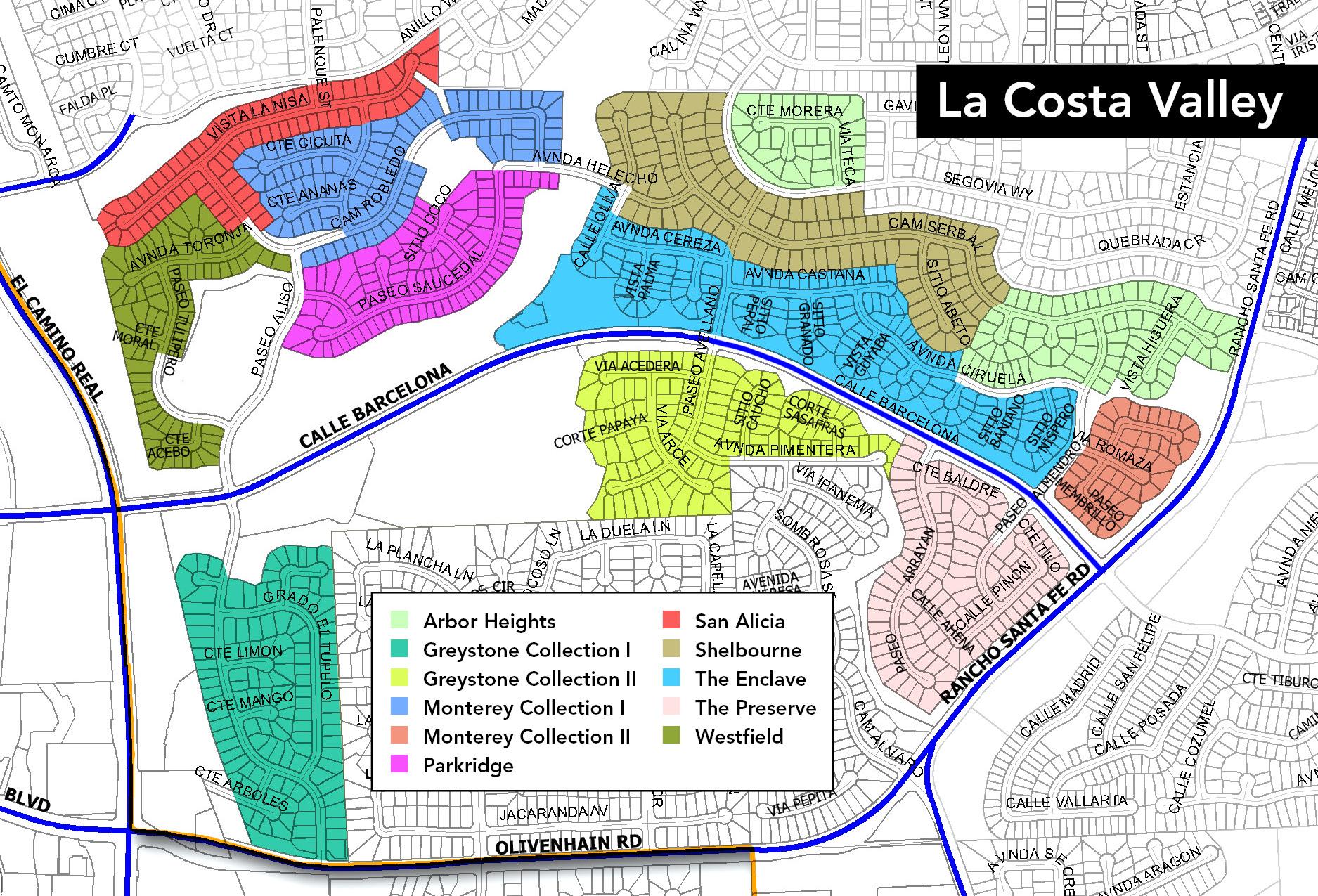 La Costa Valley Map