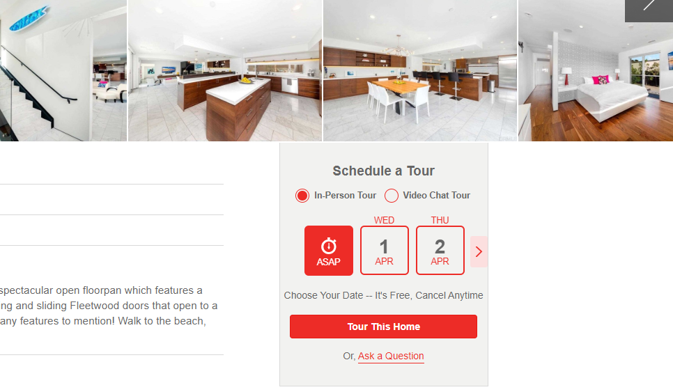 Schedule a tour for a MLS listing