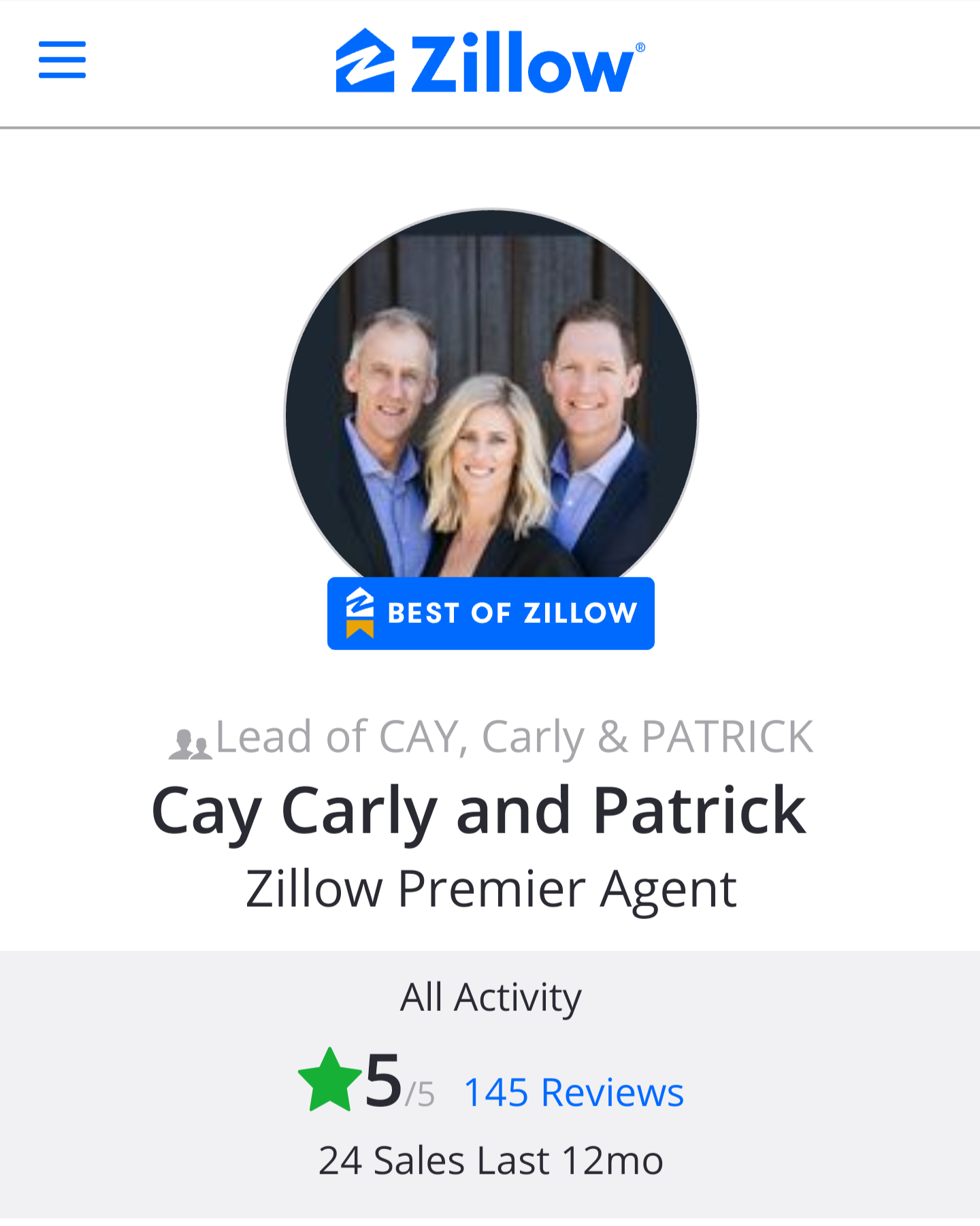 Cay, Carly & Patrick Zillow Team Profile