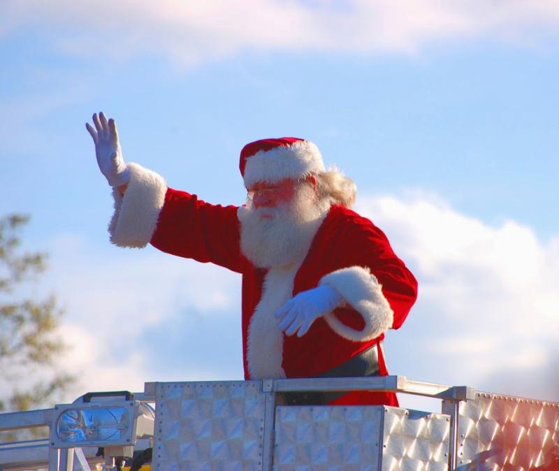 Santa at the Summerville Christmas Parad