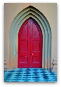 Charleston SC Red Church Door
