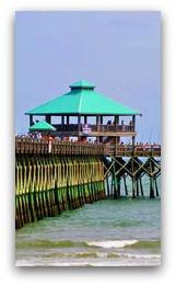 Folly Beach Pier on Folly Beach, SC