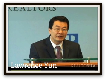 National Association of Realtors, Chief Economist, Lawerence Yun