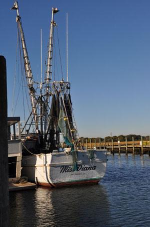 Miss Diana Shrimp Boat in Shem Creek