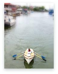 Rowing on Shem Creek