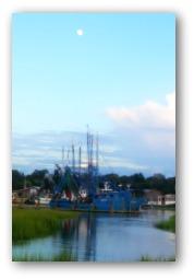 Shrimp Boat at Sunset at Shem Creek