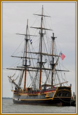 The Bounty docked in the Charleston Harbour