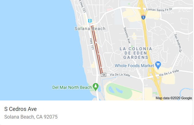 Where is Cedros Ave Solana Beach Google Maps