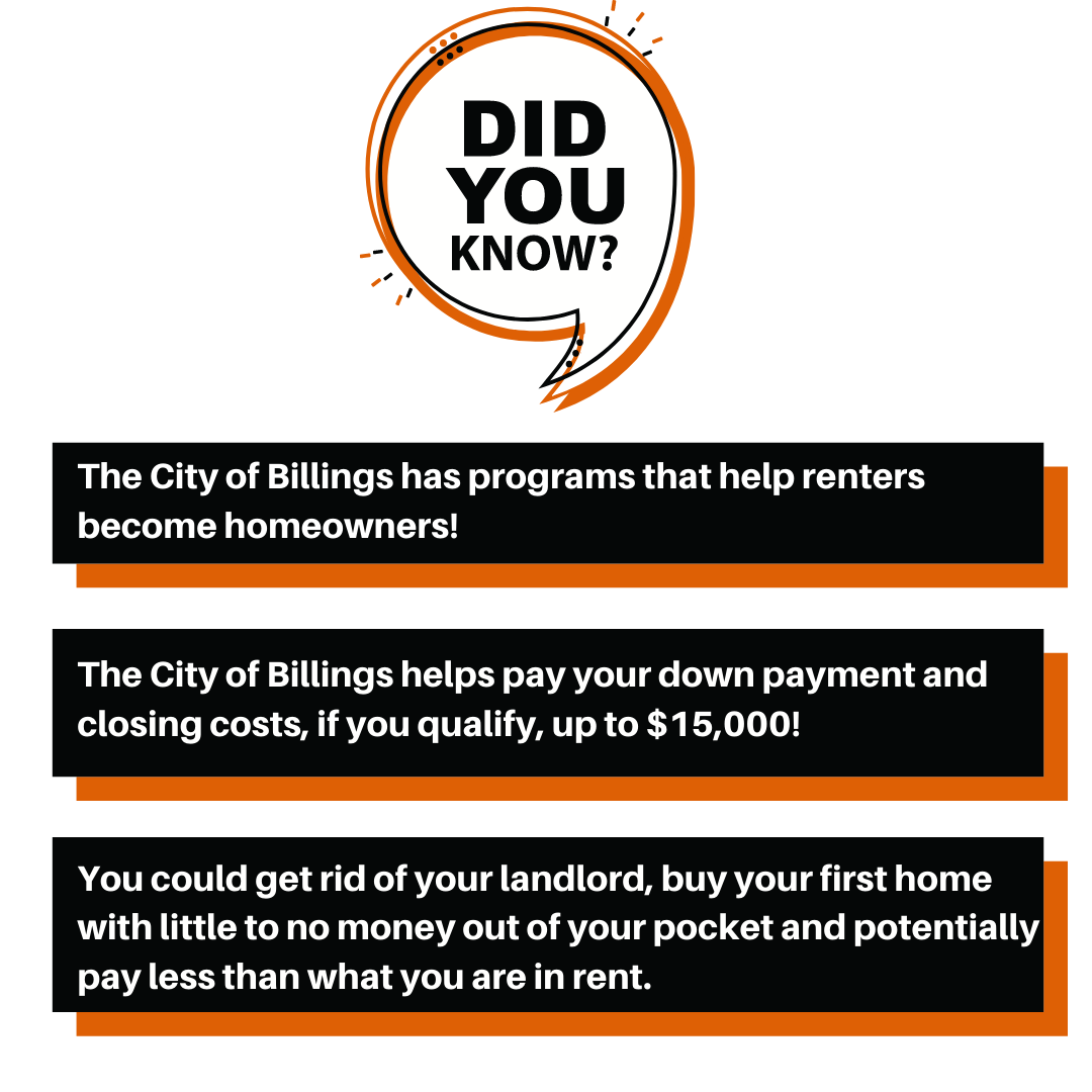 City of Billings Programs for First Time Homebuyers