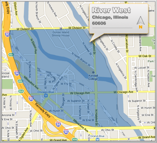 River West Location & Map