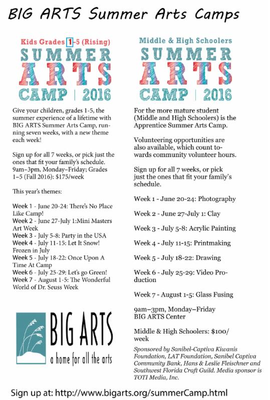 big arts summer camp
