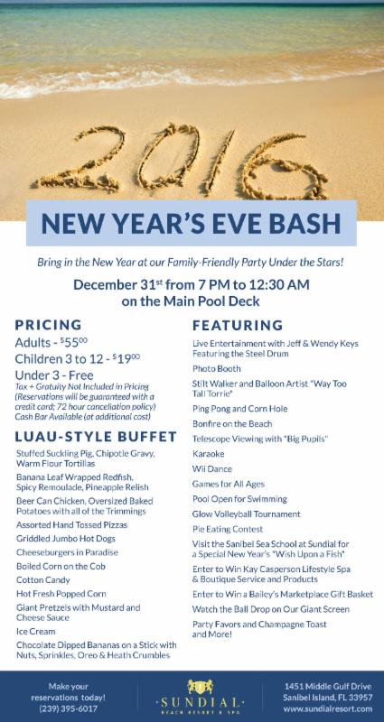 new years celebration at sundial