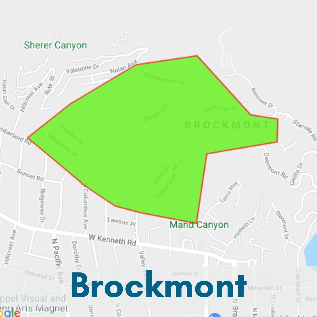 Brockmont  Neighborhood Glendale Map