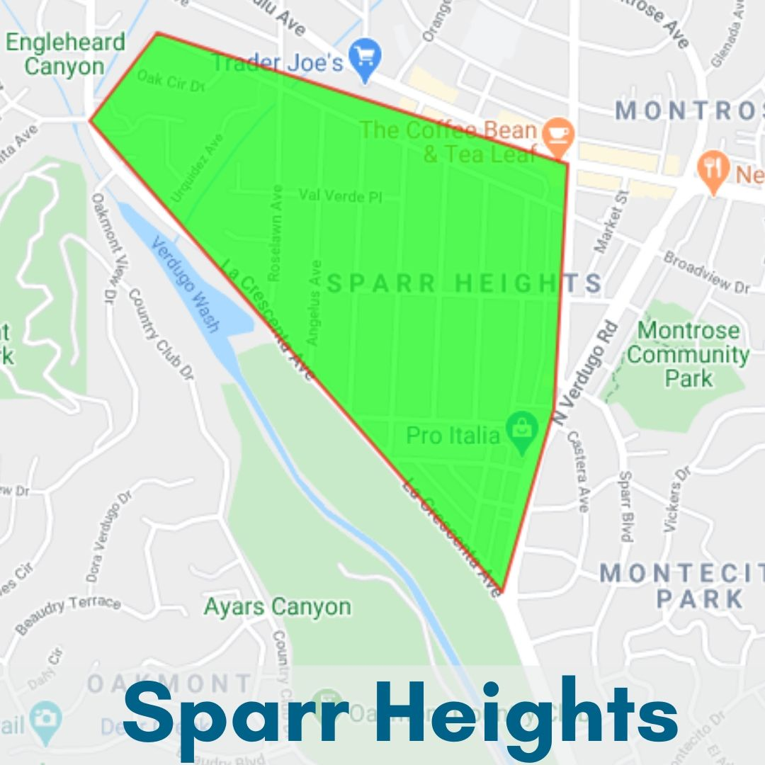 Sparr Heights Neighborhood Glendale Map