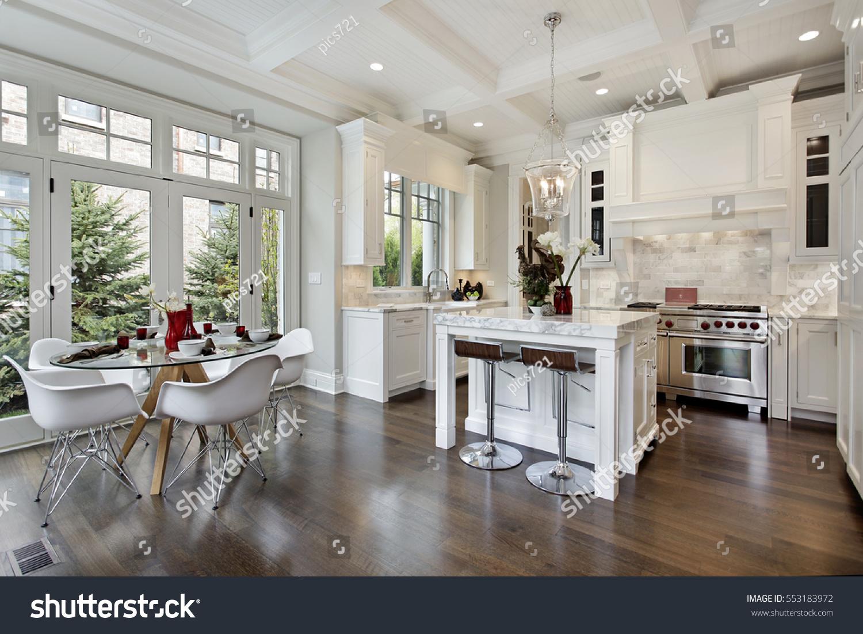 Staged luxury home kitchen