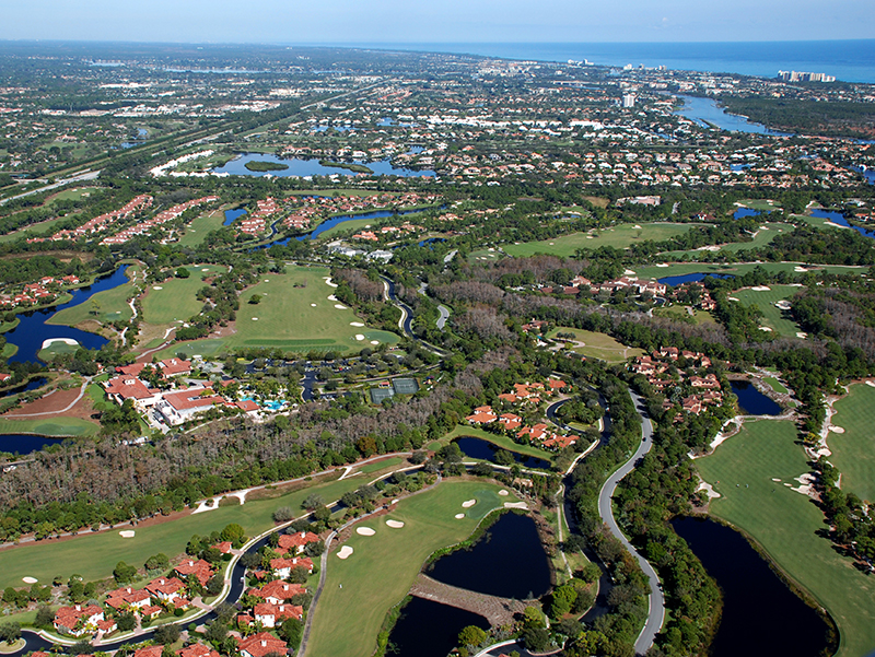 Trump National Golf Homes for Sale Aerial