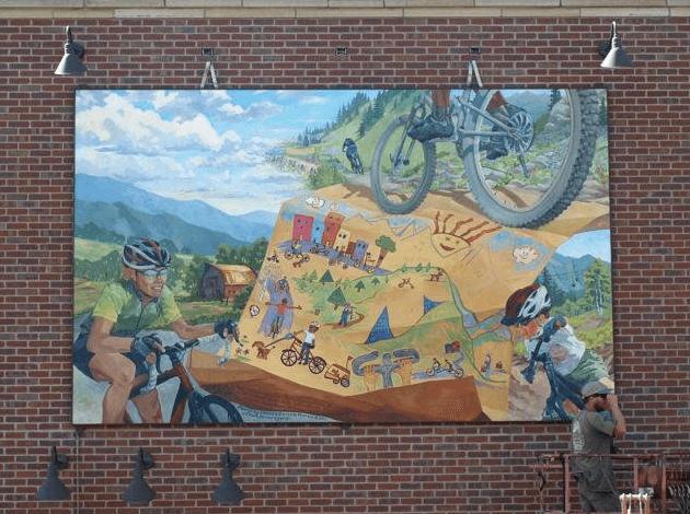 Steamboat Springs Biking Mural